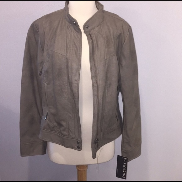 fc4dfe10a Faux Leather Moto Jacket NWT